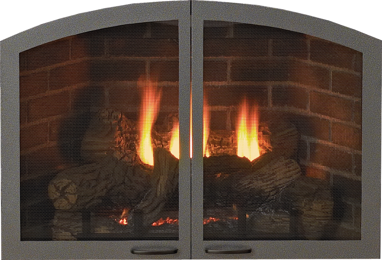 """White Mountain Hearth VBR42GCHP 42"""" Arch Doors for Breckenridge Select 42 - Hammered Pewter"""