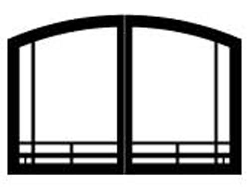 "White Mountain Hearth VBR42GMBL 42"" Mission Arch Doors for Breckenridge Select 42 Matte Black"