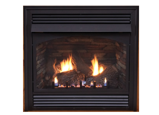 Empire VFPA32BP31L Vail Premium 32 Vent-Free Fireplace with Millivolt, Remote Ready Burner and Factory Installed Blower