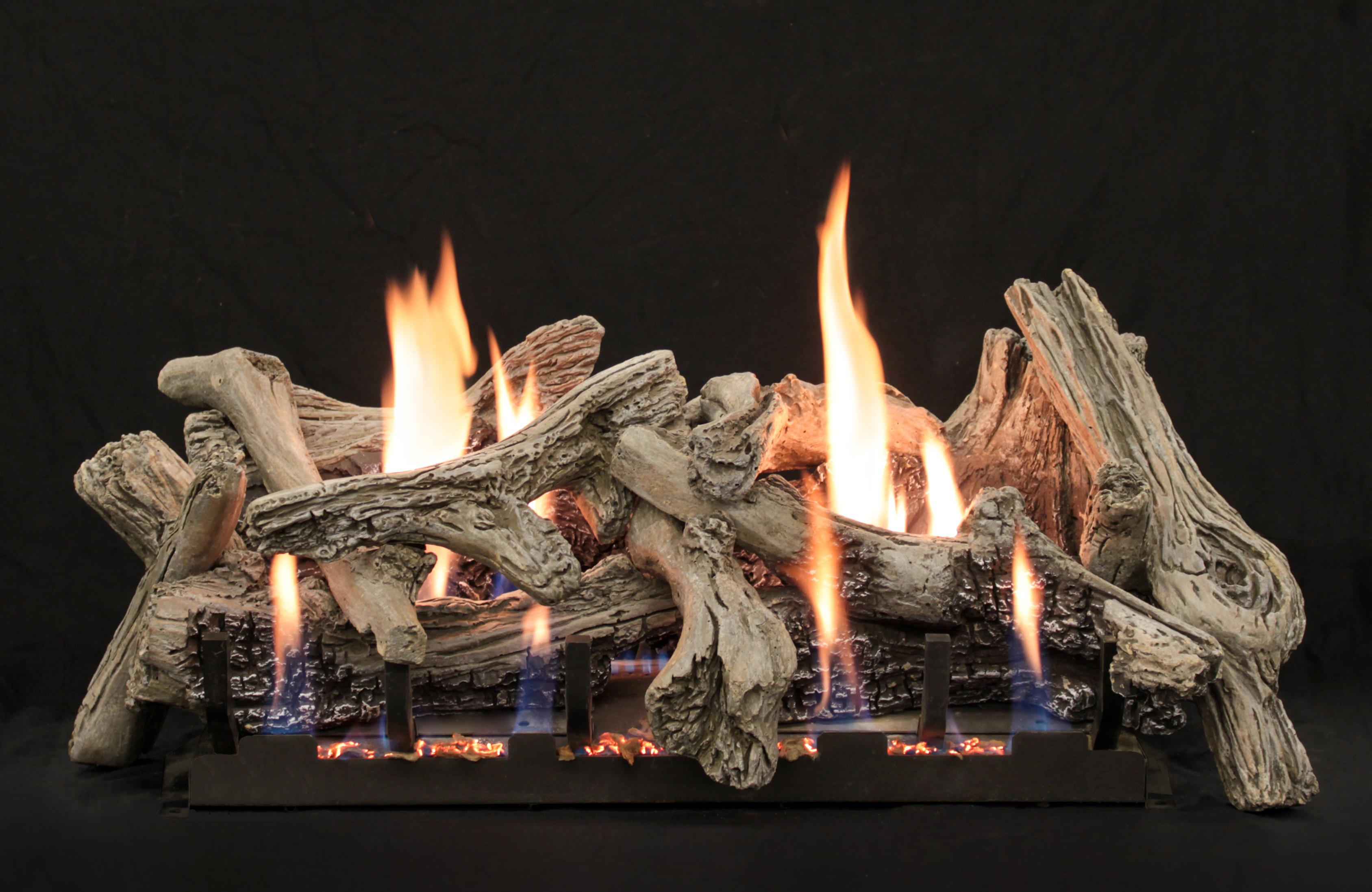 """White Mountain Hearth LS-24CD 24"""" Driftwood Replacement Logs for Vented or Vent Free Slope Glaze Burners (LOGS ONLY)"""