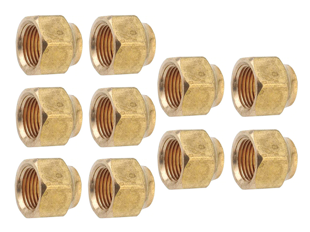 """THS 1/2"""" S.A.E. Brass Flare Nuts - Set of 10"""