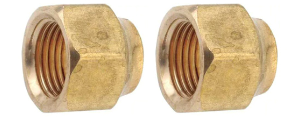 """THS 3/4"""" SAE Brass Flare Nut - Set of 2"""