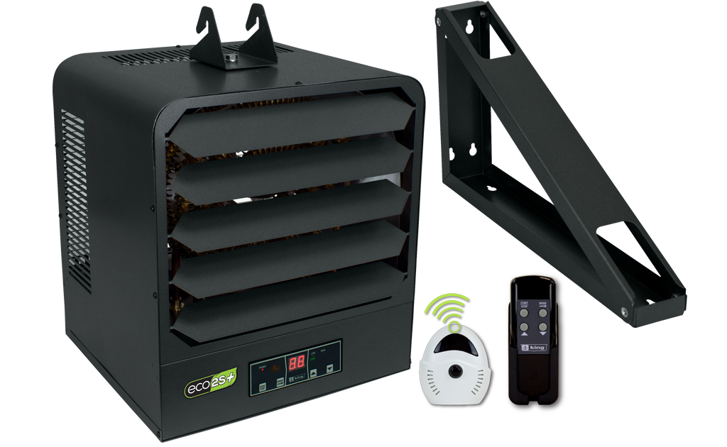 King KB2407-1-ECO2S-PLUS 7.5kW 2-Stage Electric Garage Heater with Remote Sensor - 208/240V