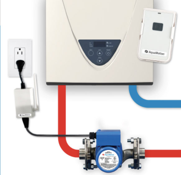AquaMotion AMH1K-RODRN On-Demand Hot Water Recirculation Pump for Tankless Hot Water Heaters