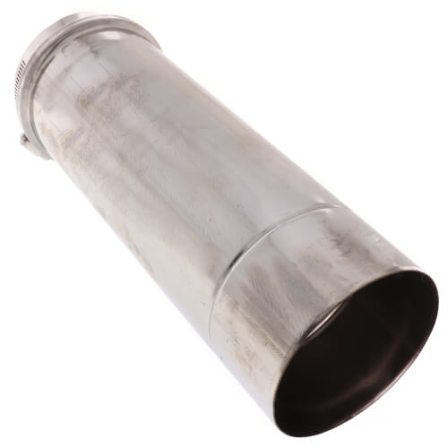 """4"""" Round 12"""" Vent Pipe Category III Stainless"""