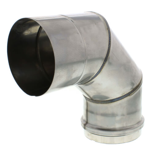 """4"""" Round 90° Elbow Vent Pipe Category III Stainless"""