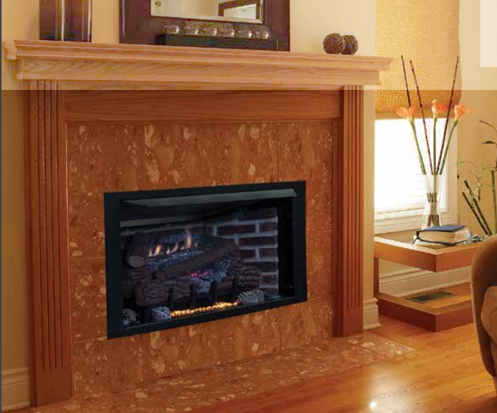 "Superior VRT4032ZM 32"" Vent Free Gas Fireplace System with Millivolt Burner - Choice of Fuel Type"