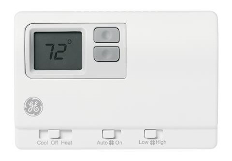 GE RAK149F2 Non-Programmable Digital Thermostat with High/Low Fan Speed for PTACs & VTACs