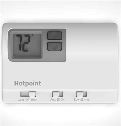 Hotpoint RAK148H2 Non-Programmable Digital Thermostat With High/Low Fan Speed for PTACs