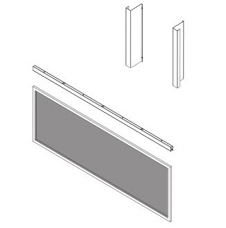 Superior LVI43B Indoor Barrier Screen for use with Draft Shield for VRL4543 Vent Free Linear Fireplaces