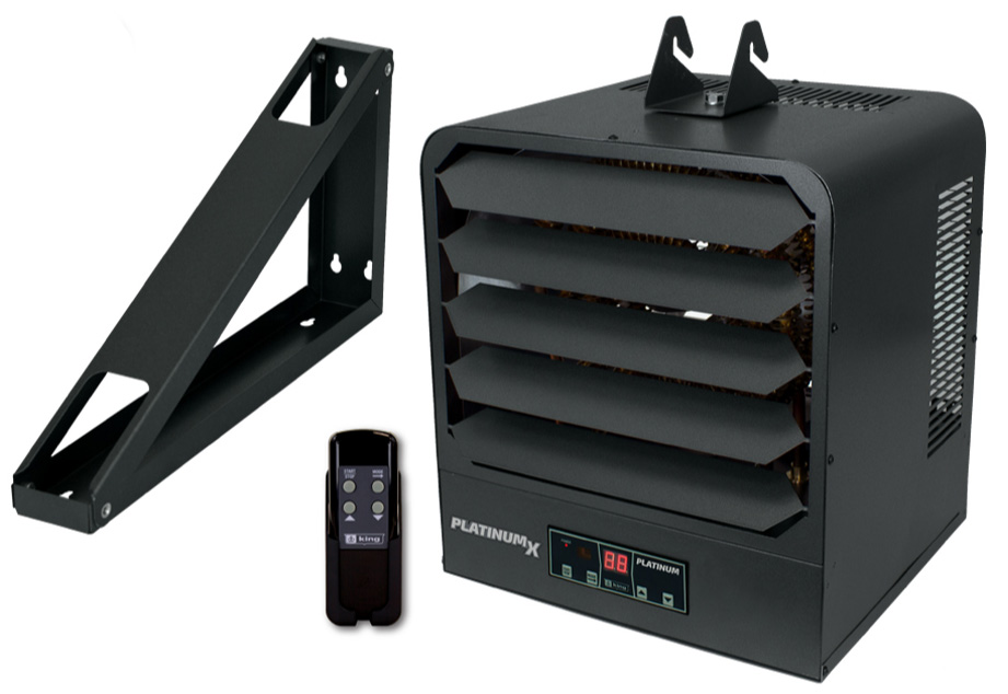 King KB2412-1-PLTMX-FB 12.5 kW PlatinumX Series Single Stage Electric Unit Heater with Fuse Block and Remote Included - 240V