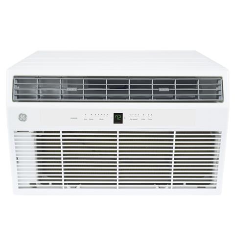 GE AKEQ10DCH 10000 BTU Thru-the-Wall Room Air Conditioner with Electric Heat - 208/230 Volt