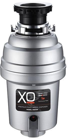 XO XOD1HP Continuous Feed 1.0 HP Garbage Disposer with Power Cord