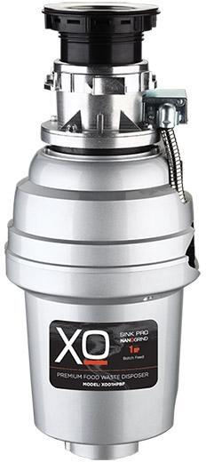 XO XOD1HPBF Batch Feed 1.0 HP Garbage Disposer with Power Cord