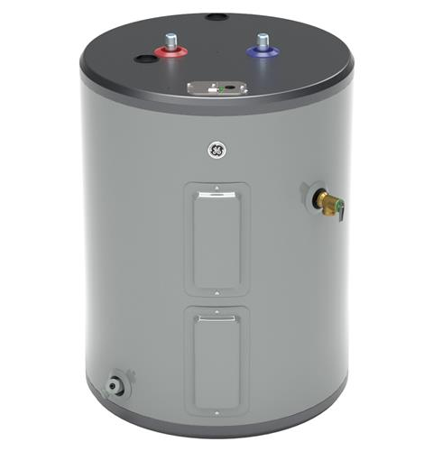 GE GE30L08BAM 26 Gallon Top Port Lowboy Electric Water Heater 240 Volt 8 Year Warranty