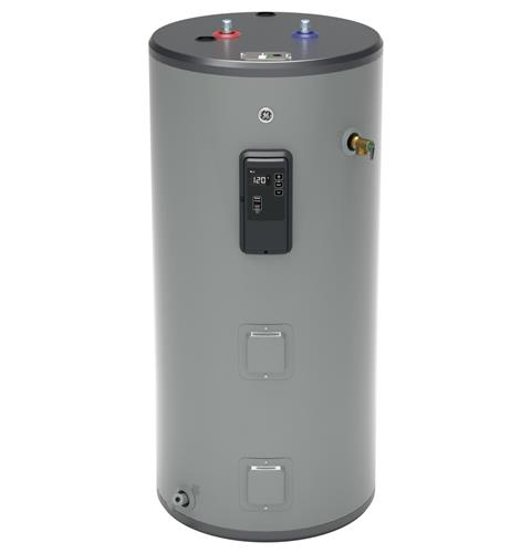 GE GE50S12BLM 50 Gallon Short Electric Water Heater with Built-in WiFi - 240 Volt - 12 Year Warranty