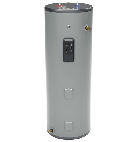 GE GE40T12BLM 40 Gallon Tall Electric Water Heater with Built-in WiFi - 240 Volt - 12 Year Warranty