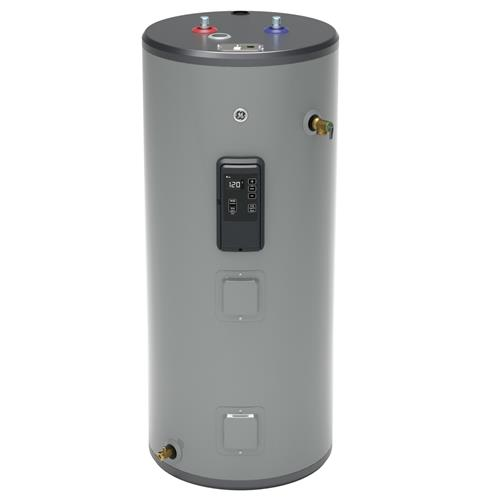 GE GE40S12BLM 40 Gallon Short Electric Water Heater with Built-in WiFi - 240 Volt - 12 Year Warranty