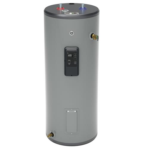 GE GE30T12BLM 30 Gallon Tall Electric Water Heater with Built-in WiFi - 240 Volt - 12 Year Warranty