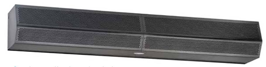 Mars Air Systems Standard Series (STD2) Unheated Air Curtain, 208/230 Volt, 3-Phase, Black
