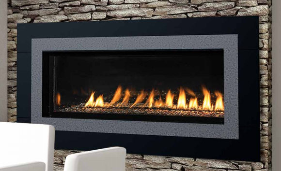 """Superior VRL4543ZEN 43"""" Contemporary, Linear Vent Free Fireplace with Electronic Ignition - NG"""
