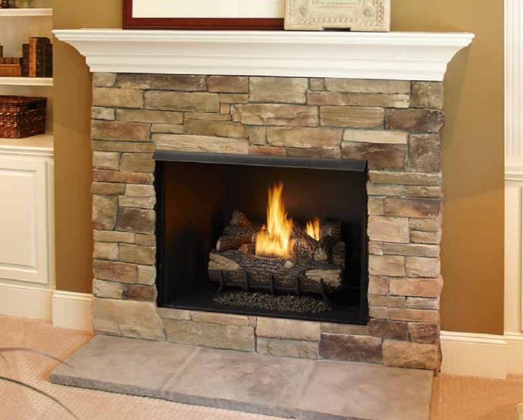 Monessen BUF42-H Vent-Free Exacta Firebox with Grey Herringbone Cement Liner
