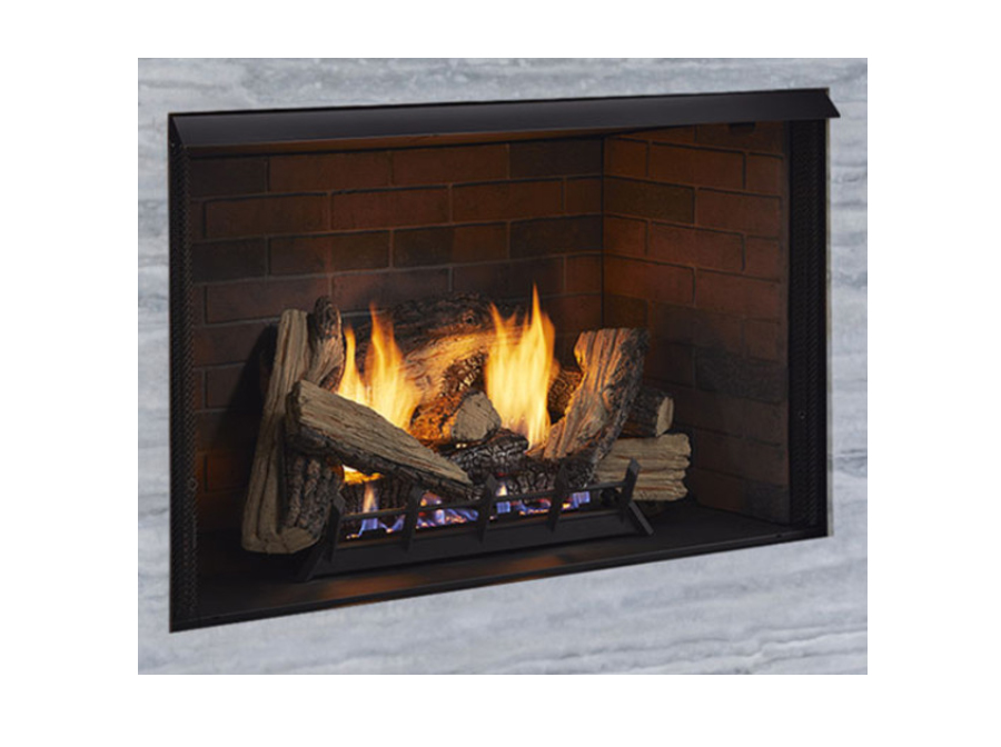 """Monessen ACUF32-GD 32"""" Attribute Series Vent-Free Firebox with Dual-Sided Multi-Tonal Grey Liner"""