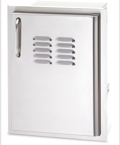 """American Outdoor Grill 20-14-SSDRV 20"""" x 14"""" Louvered Single Storage Door with Right Hinge"""