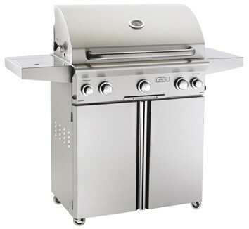 """American Outdoor Grill 30PCL 30"""" Portable/Freestanding Liquid Propane Grill with Rotisserie"""