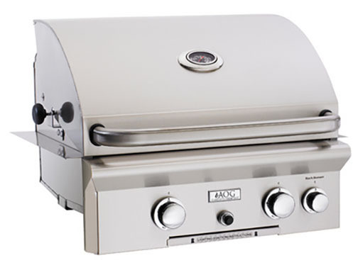 "American Outdoor Grill 24NBL 24"" Built-In Natural Gas Grill with Rotisserie"