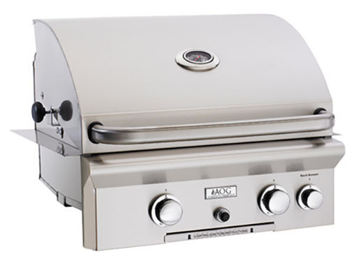 """American Outdoor Grill 24NBL 24"""" Built-In Natural Gas Grill with Rotisserie"""