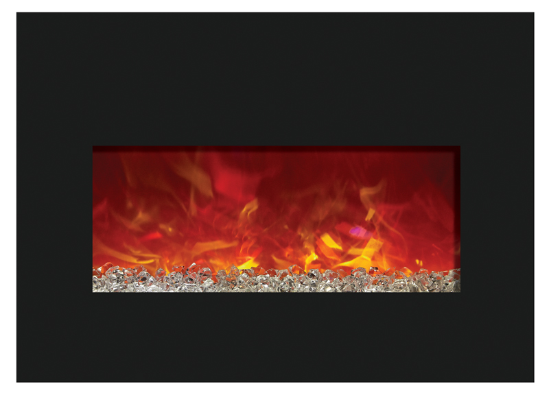amantii insert334230bg 32 insert electric fireplace black glass rh totalhomesupply com