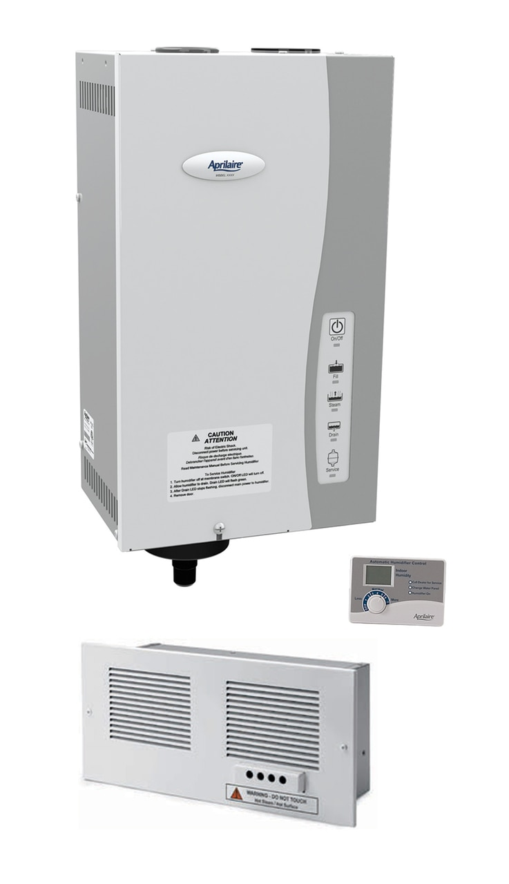 Aprilaire 865 Ductless Steam Humidification Package with Digital Control