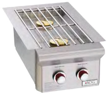 American Outdoor Grill 3282PT Built-In Double Side Burner with Push-To-Light Ignition - Liquid Propane