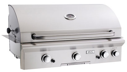 """American Outdoor Grill 36NBL 36"""" Built-In Natural Gas Grill with Rotisserie"""
