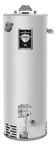 Bradford White RG250T6X 50 Gallon Tall Atmospheric Water Heater, Liquid Propane