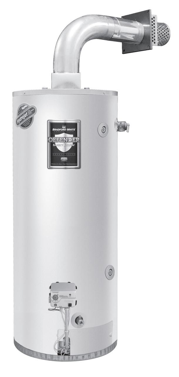 Bradford White RG2DV50S6N-FLX 50 Gallon, Short, Direct Vent Water Heater, Natural Gas