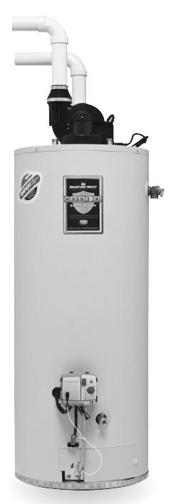 Bradford White RG2PDV50H6N 50 Gallon, Power Direct Vent Water Heater, Natural Gas