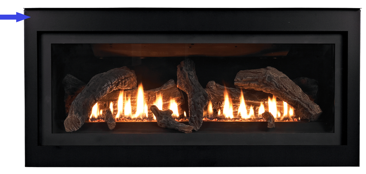 """White Mountain Hearth DFQ412BL 2"""" Decorative Front with Barrier Screen - Matte Black"""