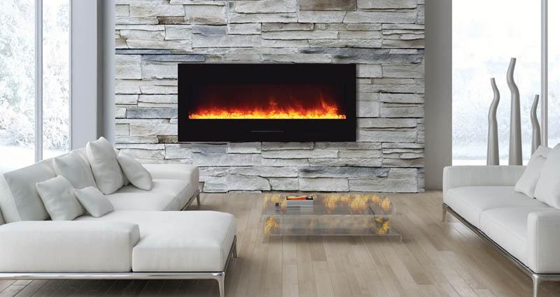 "Amantii WM-FM-50-BG-NOLOG 50"" Built-In Electric Fireplace"