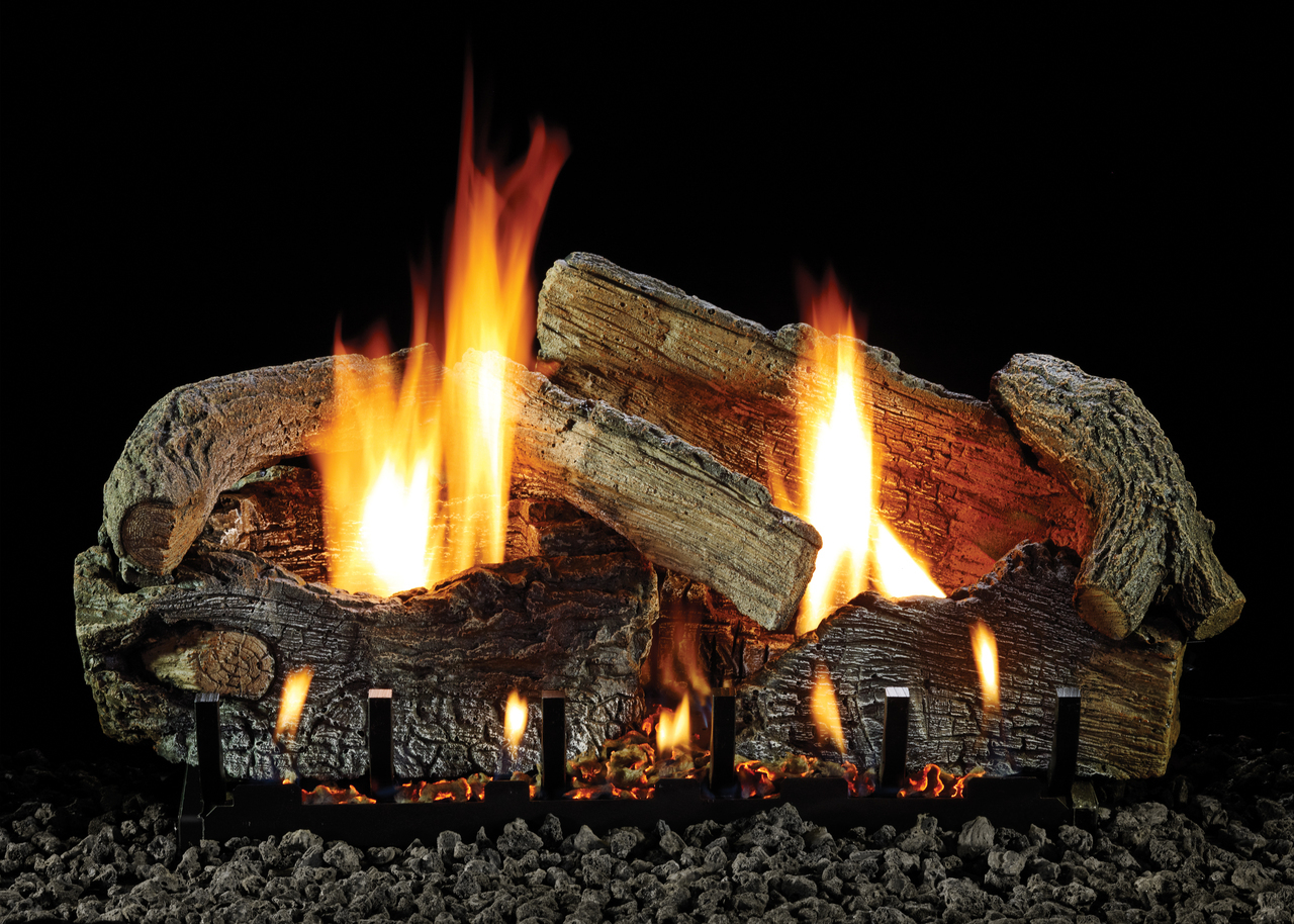 "White Mountain Hearth LS-24SRAO 24"" Stacked Aged Oak Log Set"