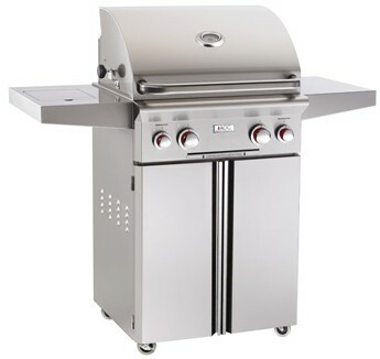 """American Outdoor Grill 24PCT 24"""" Portable/Freestanding Liquid Propane Grill with Rotisserie"""
