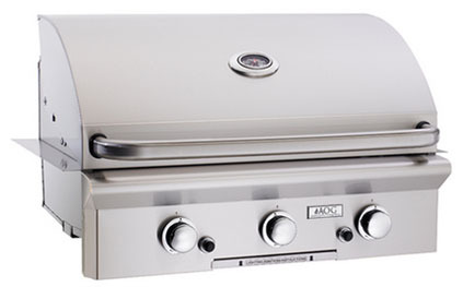 """American Outdoor Grill 30NBL 30"""" Built-In Natural Gas Grill with Rotisserie"""