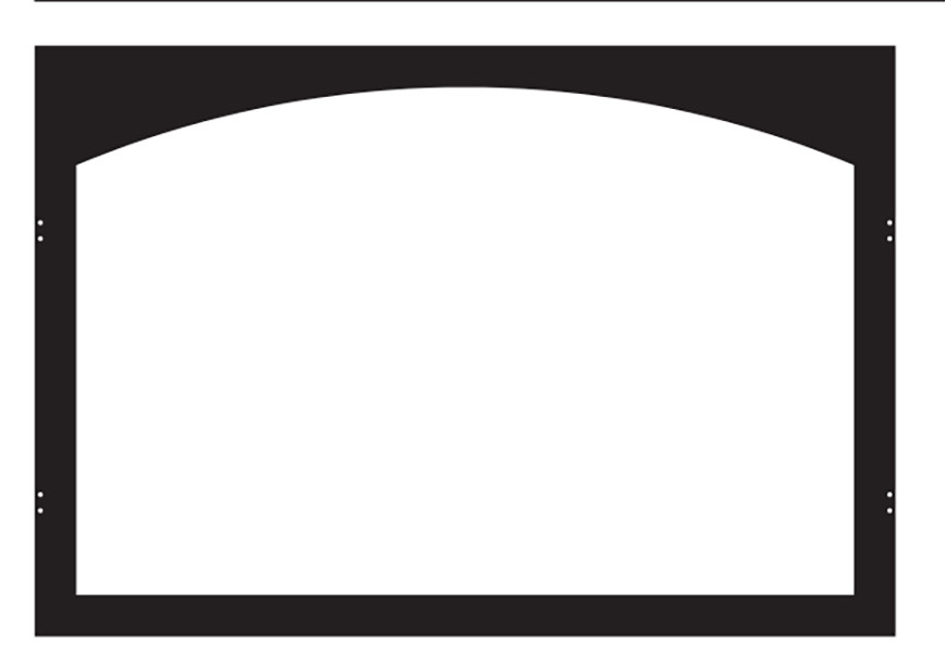 White Mountain Hearth VFY32SBL Arch Hinge Door Frame in Matte Black