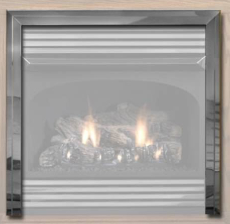 White Mountain Hearth VPF26HP Hammered Pewter 3-Piece Trim Kit for Vail 26