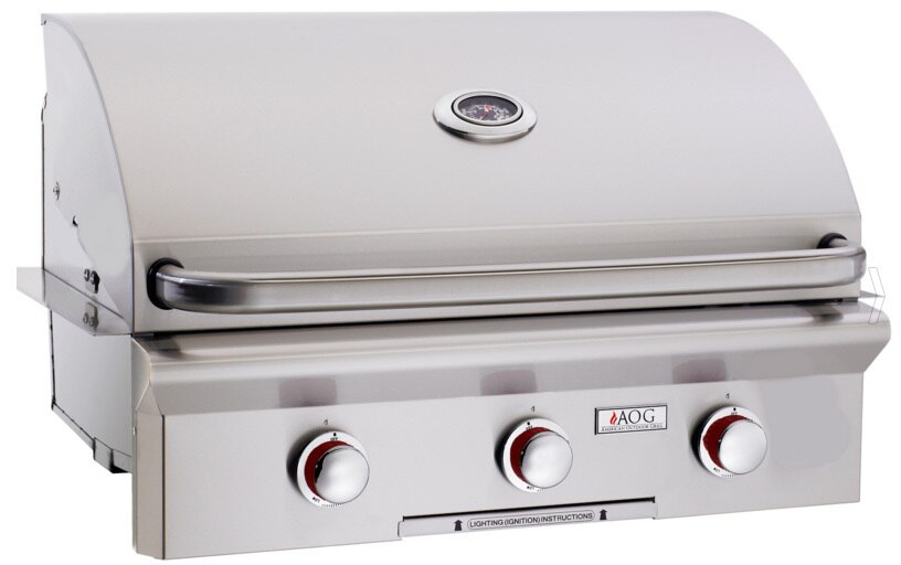 """American Outdoor Grill 30NBT-00SP 30"""" Built-In Natural Gas Grill"""