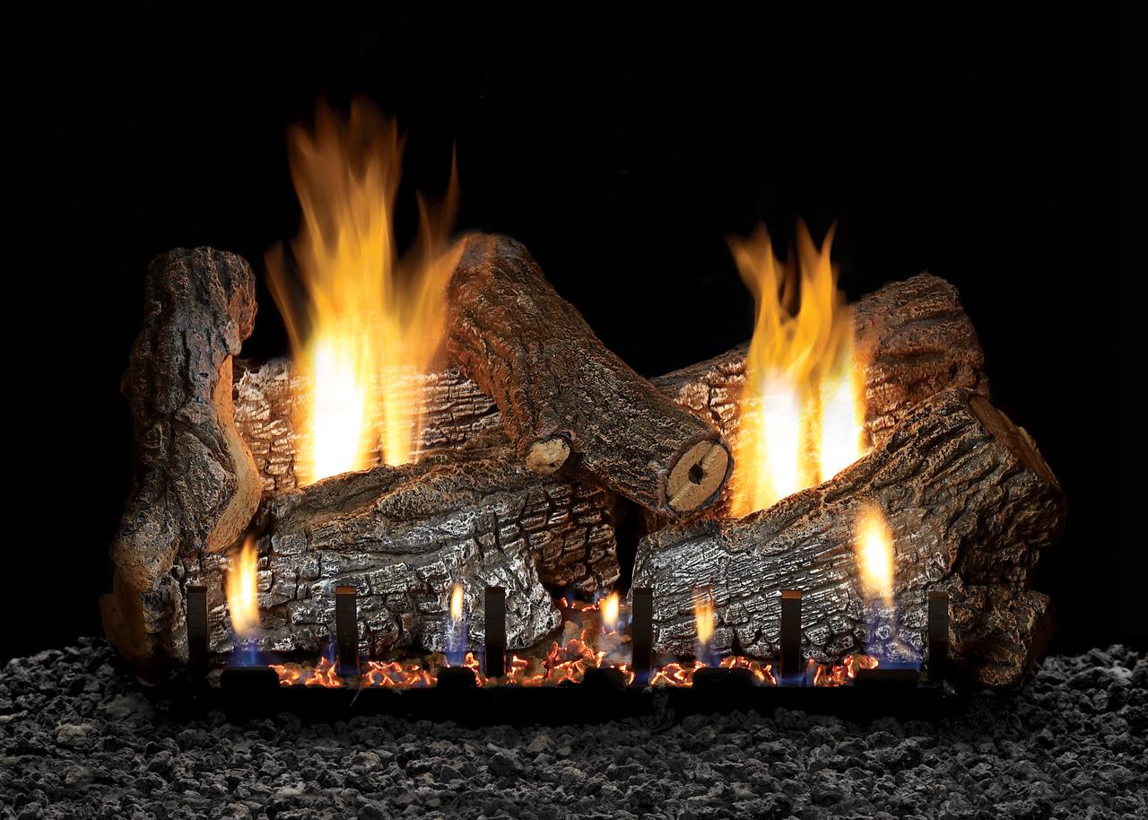 White Mountain Hearth Sassafras Log Set - Choice of Vented Burner