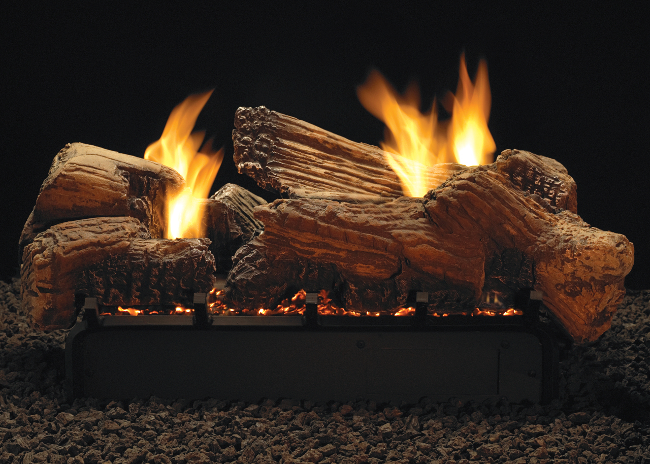 """White Mountain Hearth LSU-30SF 30"""" Stone River Replacement Logs for Vent Free Vista See-Through Burners (LOGS ONLY)"""