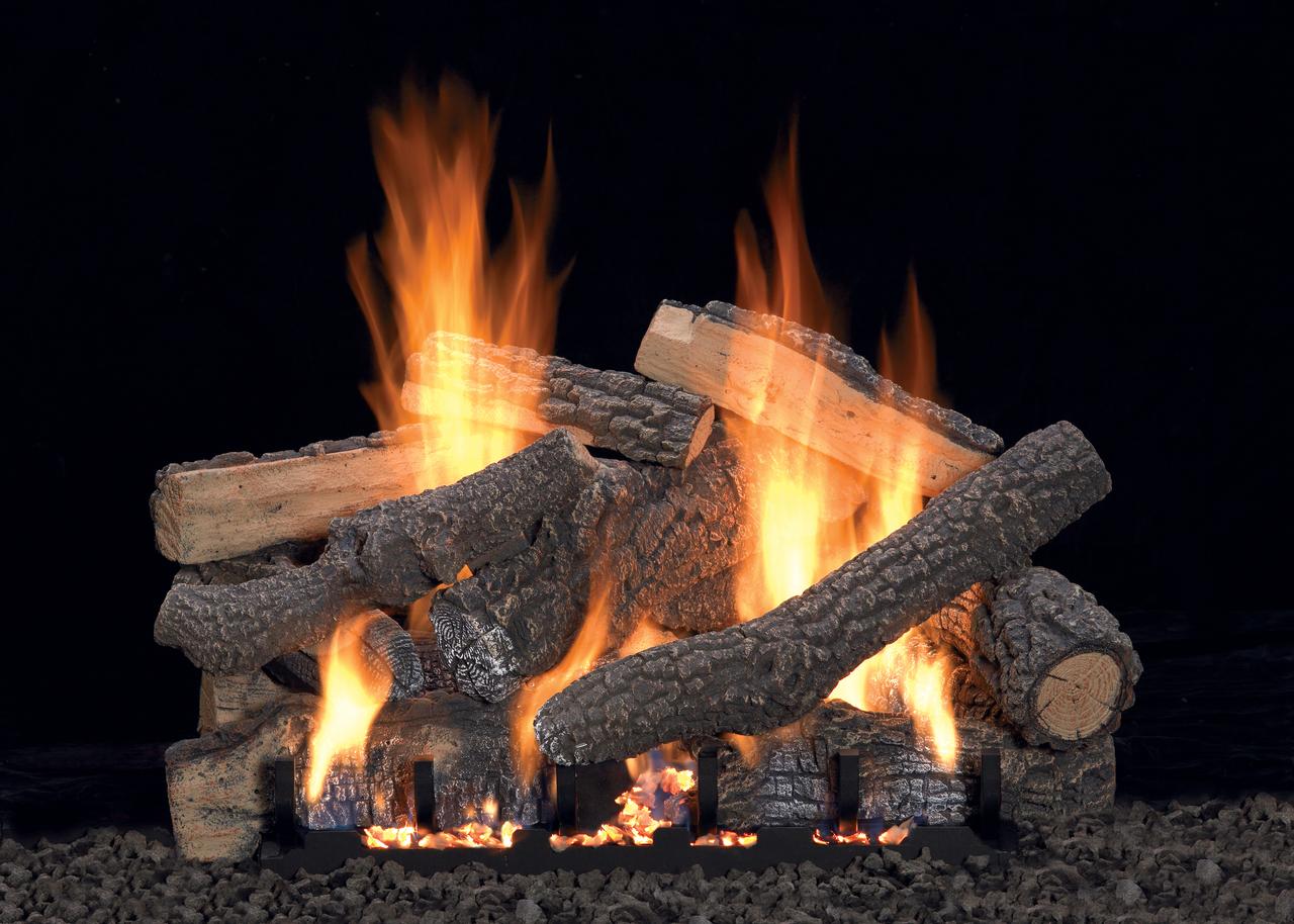 White Mountain Hearth Ponderosa Log Set - Choice of Vented Burner