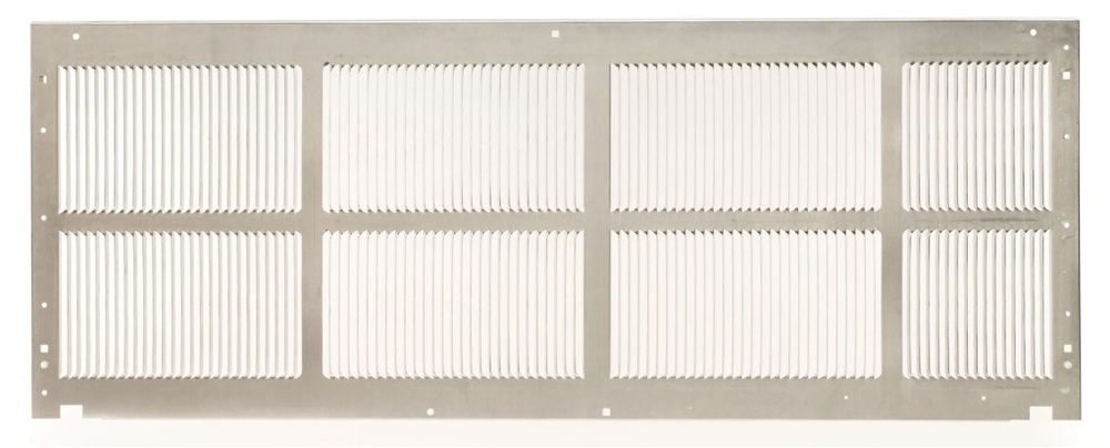 Amana SGK01TB Stamped Aluminum Grille - Stonewood Beige. This grille matches the color of the wall sleeve. A Grille is required for new installation.